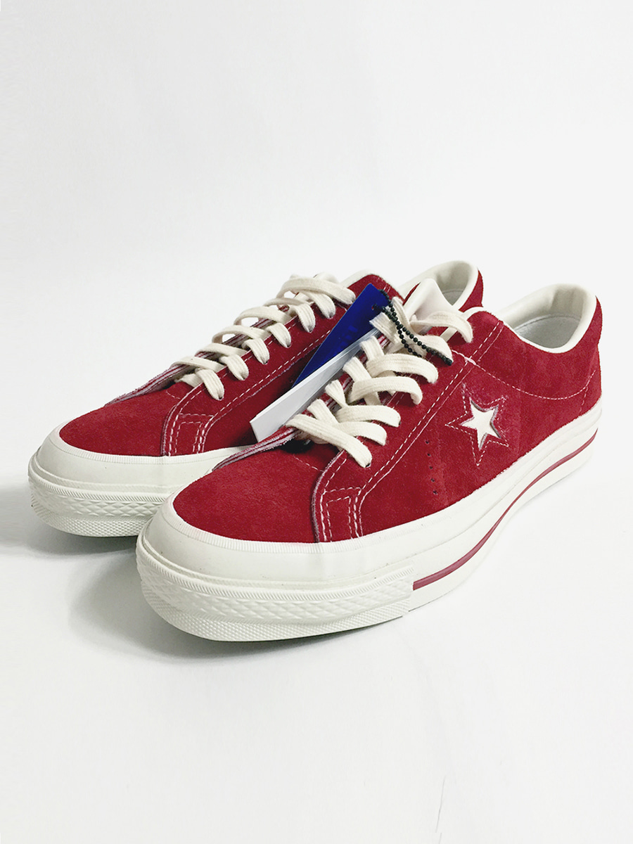 convers one star j vtg timeline suede (blood)