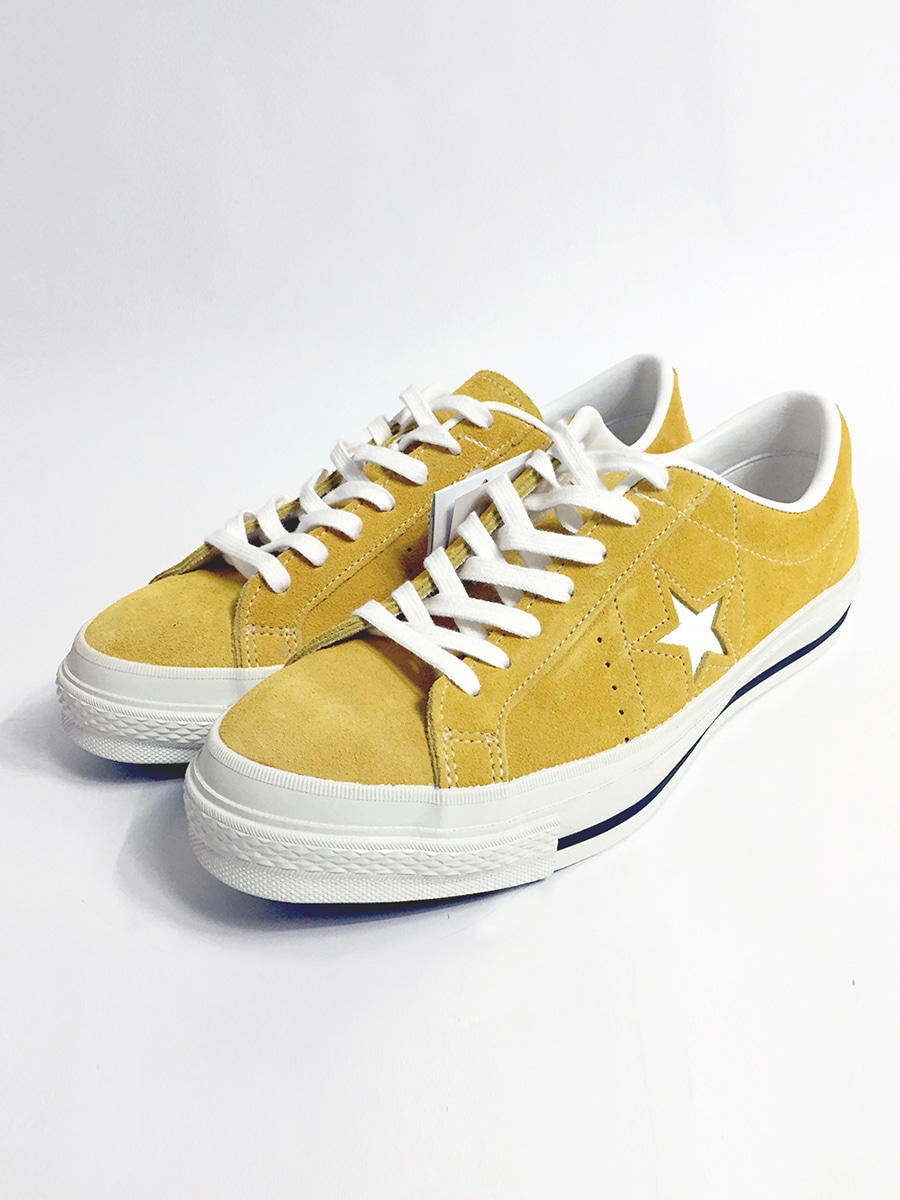 convers one star j vtg suede (mustard)