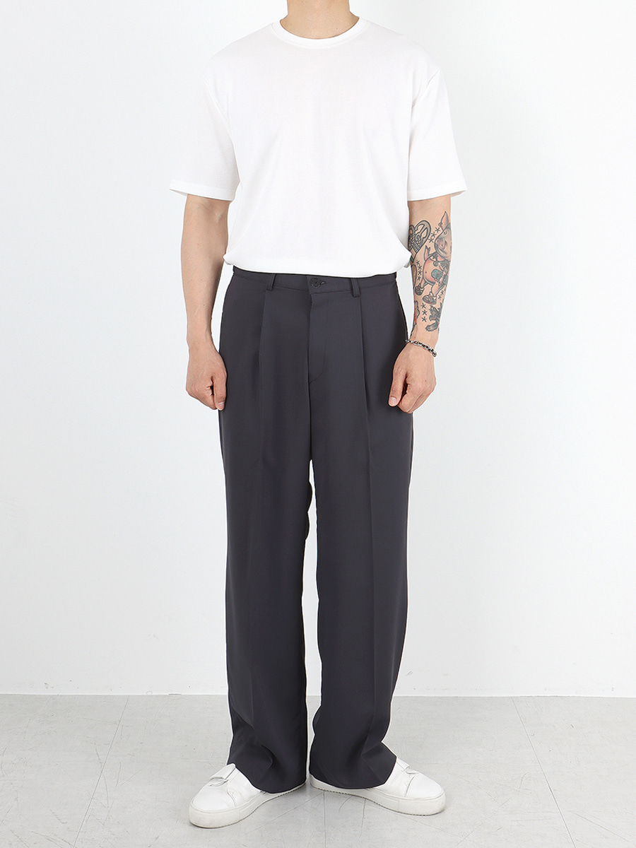 terra wide vizzo trousers (2colors)