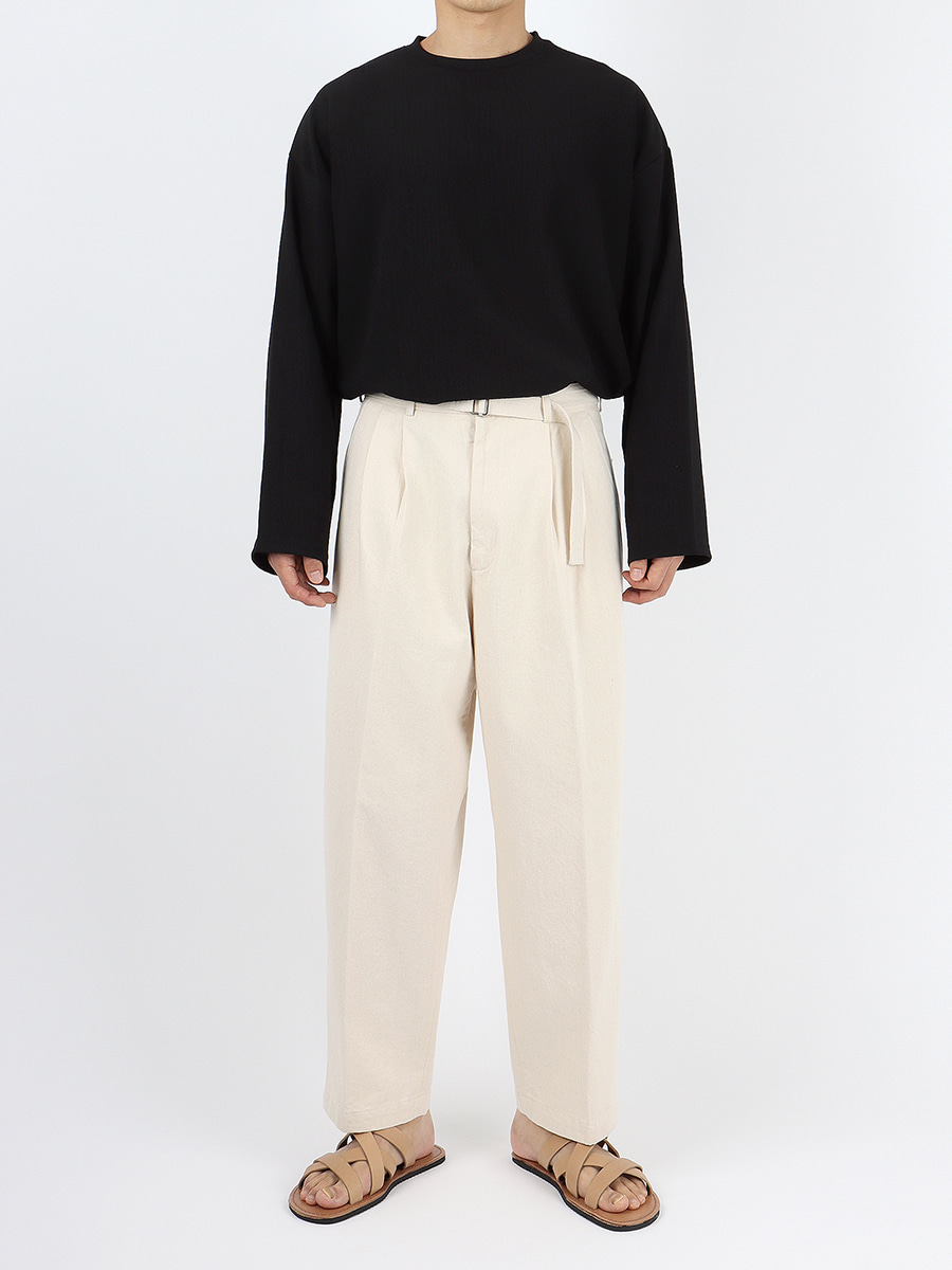 tapered belt trousers